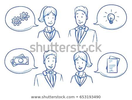 teamwerk · Blackboard · team · acroniem · samen · iedereen - stockfoto © bbbar