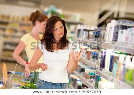 shopping · cosmetici · donna · shampoo - foto d'archivio © candyboxphoto