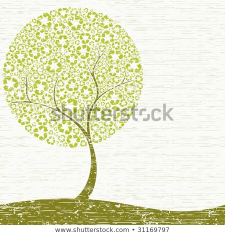 Grungy Recycling-Tree Concept stock photo © karolinal