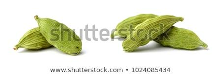 Kardámom gyűjtemény izolált fehér zöld makró Stock fotó © ziprashantzi