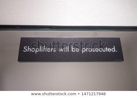 Uyarı örnek hukuk alışveriş kayıt satın almak Stok fotoğraf © ajlber