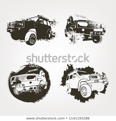 Vector jeeps set Stock photo © mechanik