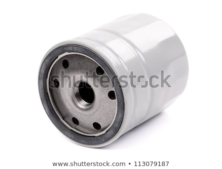 Stock photo: original oil filter car, a gray body