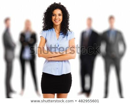 Manager team gevouwen armen vrouw gebouw Stockfoto © wavebreak_media