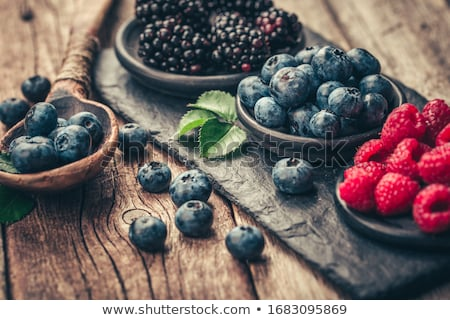antioxidante · mirtilos · branco · fora · comida - foto stock © masha