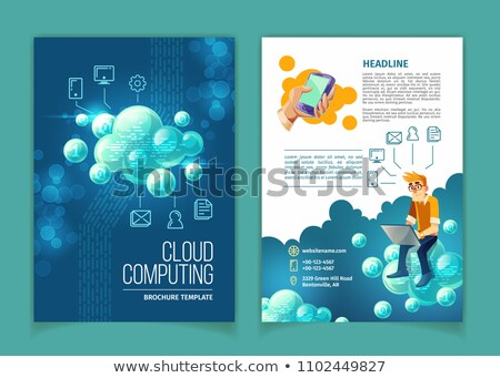 Nuage brochure internet image peuvent taille Photo stock © bagiuiani