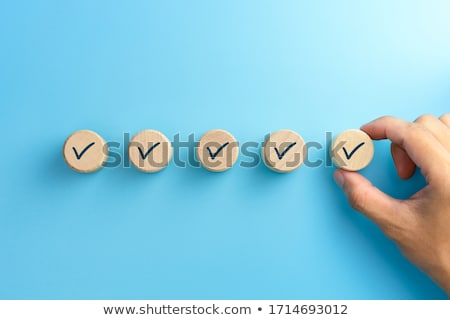Stock photo: Checklit In Blue