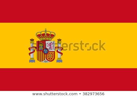 スペイン国旗 実例 孤立した 手描き ワイン インターネット ストックフォト © marinini