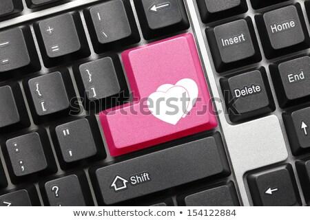 számítógép · billentyűzet · rózsaszín · kulcs · remény · közelkép · egér - stock fotó © maxmitzu