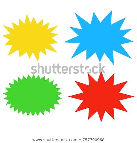 blue vintage star burst design stock photo © lightsource