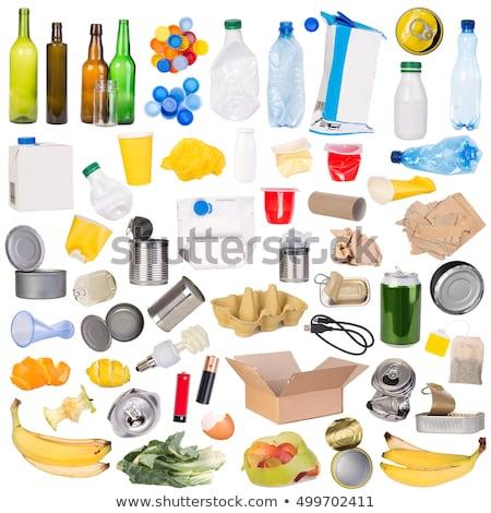 Recyclable rubbish on white background Stock photo © wavebreak_media