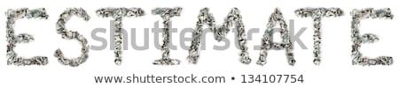 100 · palavra · fora · isolado - foto stock © eldadcarin