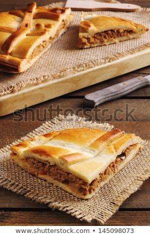 Galicië typisch taart serveerschaal restaurant brood Stockfoto © guillermo