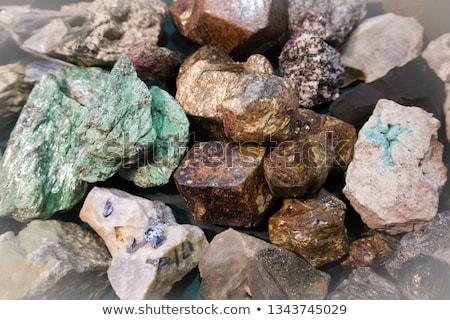 Malaquita mineral naturalismo verde isolado branco Foto stock © jonnysek