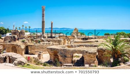 древних руин Тунис Средиземное море морем небе Сток-фото © TanArt