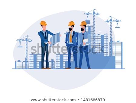 Foto stock: Moderna · proyecto · edificio · papel · construcción · casa