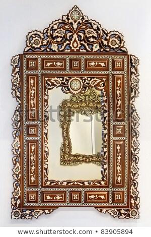 rustico · specchio · vintage · stile · confine · frame - foto d'archivio © smuki