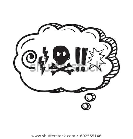Sign comic skull  Stock photo © Ustofre9