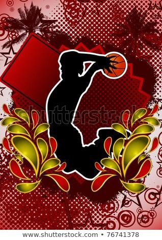 vintage multicolor basketball player stock photo © cienpies
