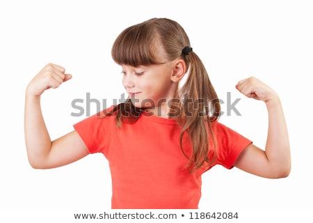 potężny · dziewczyna · rzeczywistość · vs · ambicja · myślenia - zdjęcia stock © tarikvision