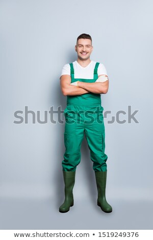 Foto stock: Electrician Ready To Start Work