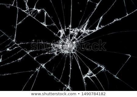 Foto stock: Cacos · de · vidro · vidro · quebrado · rachaduras · ônibus · estação