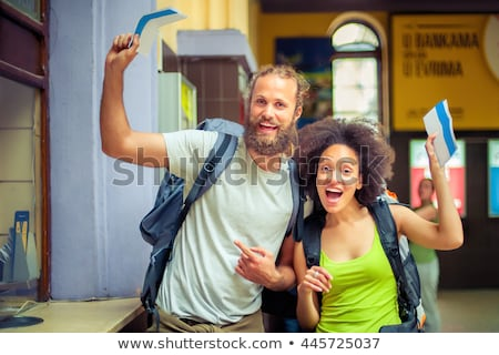 Young couple waiting for a train Stock photo © sumners