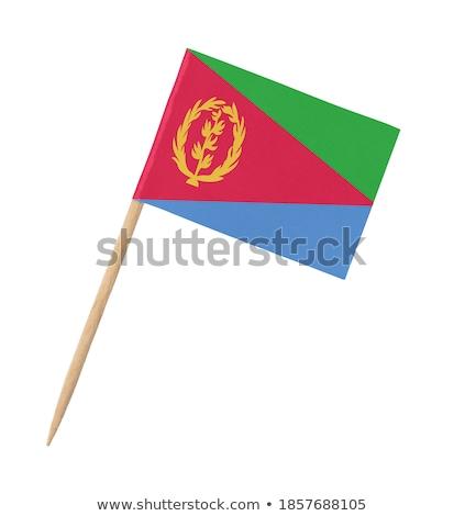Miniatura banderą Erytrea odizolowany zielone Zdjęcia stock © bosphorus