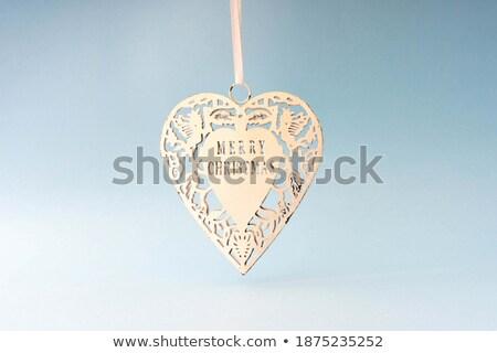 sevgililer · günü · asılı · kâğıt · kalpler · vektör · sevmek - stok fotoğraf © burakowski