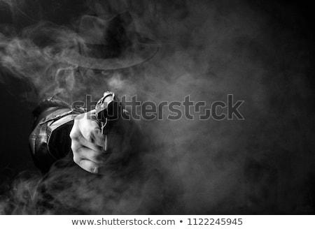 Gangster bianco nero foto sigaro fumare illuminazione Foto d'archivio © sumners