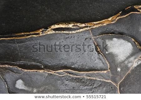 Mooie steen structuur kust lijn natuurlijke Stockfoto © meinzahn