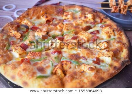 nachos · queso · hortalizas · verde · aceitunas · negras - foto stock © imaster