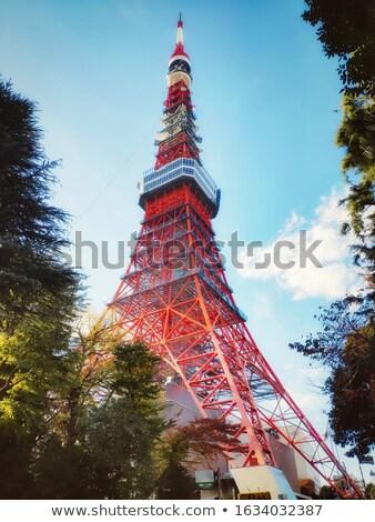 Ferro torre móvel comunicação céu Foto stock © smuki