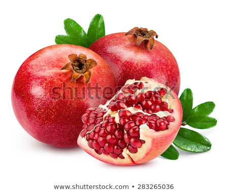 pomegranate isolated on white background stock photo © bloodua