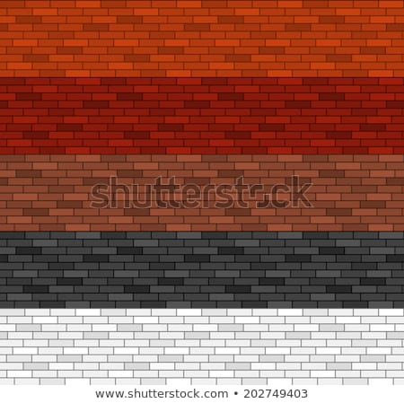бесшовный кирпичных шаблон цветами красный оранжевый Сток-фото © liliwhite