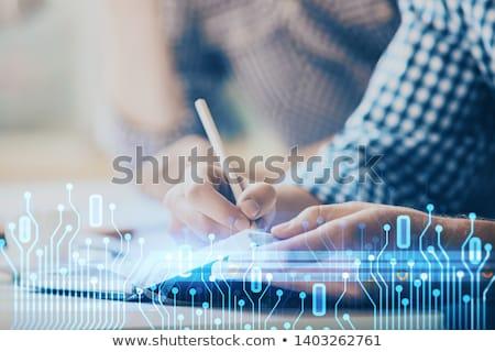Corporativo blog digital dourado cor texto Foto stock © tashatuvango