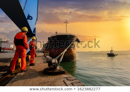 Sailboats moored at a port Stock photo © bmonteny