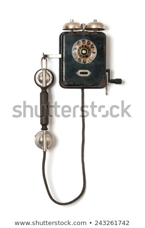 vintage telephone on the wall stock photo © witthaya