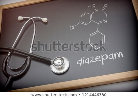 Blackboard with the chemical formula of Diazepam Stock photo © Zerbor