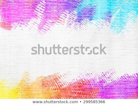 Cor giz de cera isolado branco caneta grupo Foto stock © jonnysek