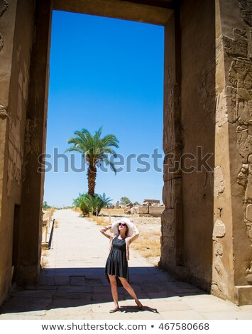 воображение храма Луксор озеро архитектура крана Сток-фото © eleaner