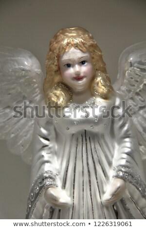 Küçük cam melek dekorasyon sevimli Noel Stok fotoğraf © jeliva