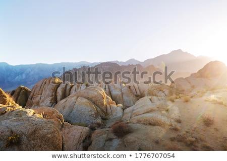 Paisajes rocas Cartoon cielo montana rock Foto stock © ddraw