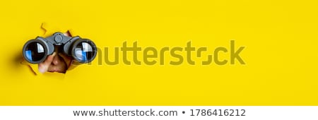 Dürbün siyah beyaz Stok fotoğraf © devon
