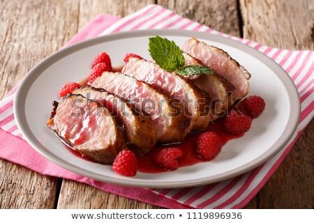 duck breast cooked with raspberry sauce Stock photo © M-studio