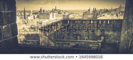 Stock photo:  Edinburgh Castle Ramparts At Night