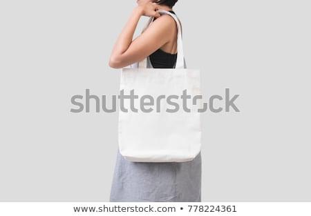 Gris textiles bolsa aislado blanco completo Foto stock © Mikko