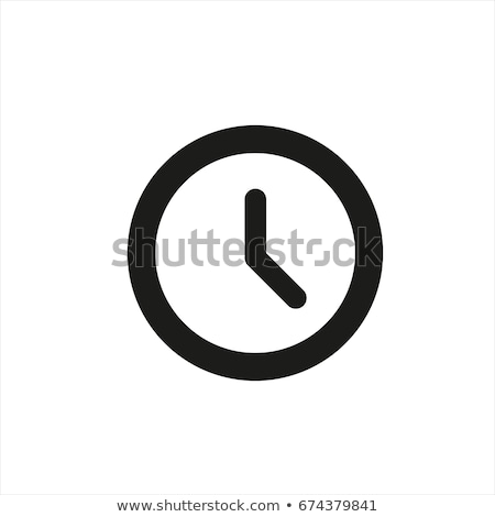 clock icon on white background stock photo © tkacchuk