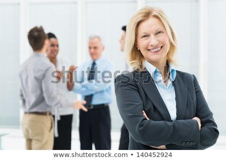 Happy senior businesswoman stock photo © nyul