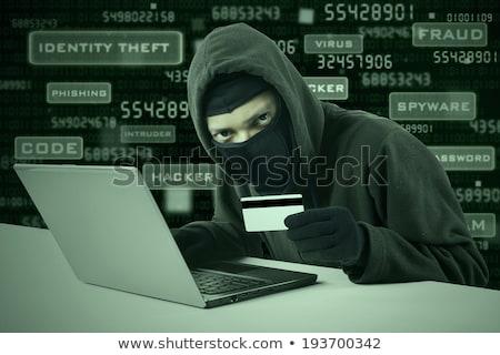 Homem hackers laptop composição digital imagem Foto stock © AndreyPopov